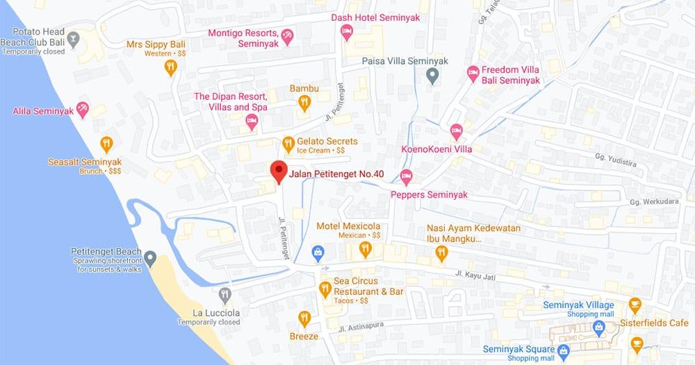 peta Seminyak Bali