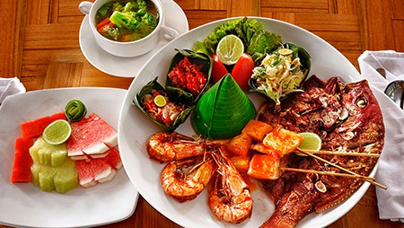 Seafood platter A