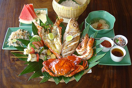 Seafood Basket with Lobster