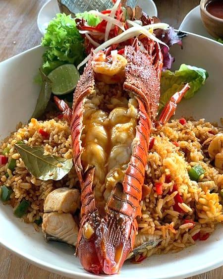 Seafood Jambalaya with lobster